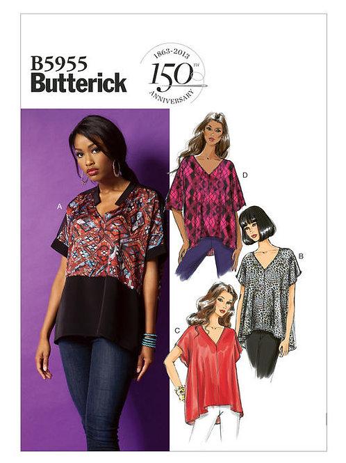 Butterick B5955 Top mit V-Ausschnitt