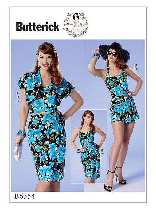 Butterick B6354 Strand-Outfit by Gertie