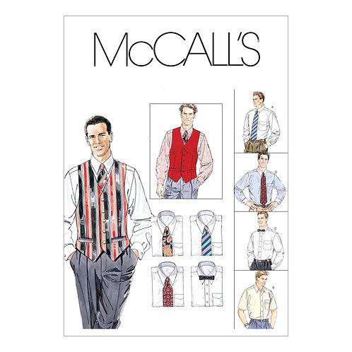 McCall`s M2447 Hemd,Weste,Schlips,Fliege