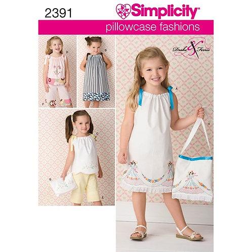 Simplicity 2391 Kindersachen aus Recycelten Stoffen