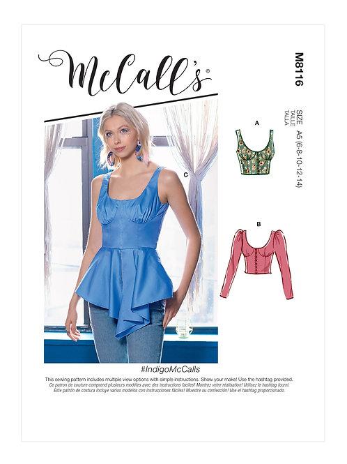 McCall's 8116 Bluse und Top