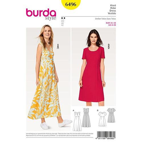 Burda 6496 Kleid mit hoher Taille