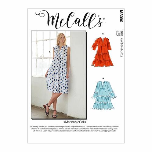 McCall's 8090 Kleid mit Rüschen