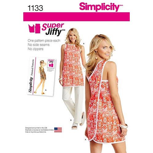 Simplicity 1133 Tunika / Schürze und Hose