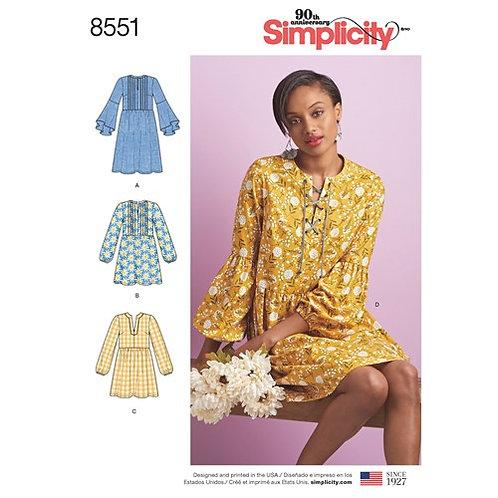 Simplicity 8551 Kleid & Tunika
