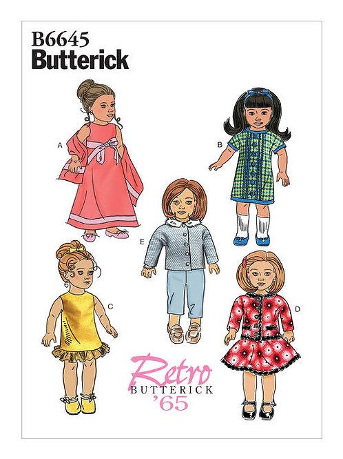 Butterick B6645 Retro Puppenkleidung