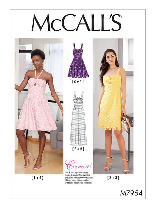 McCall's 7954 reizendes Kleid & Overall