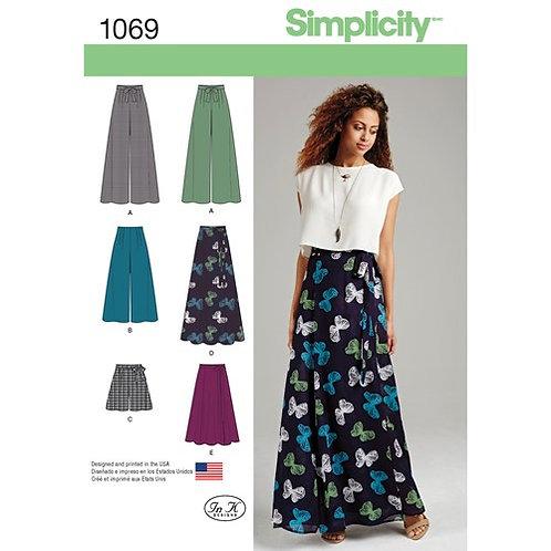 Simplicity 1069 Hose, Shorts & Wickelrock