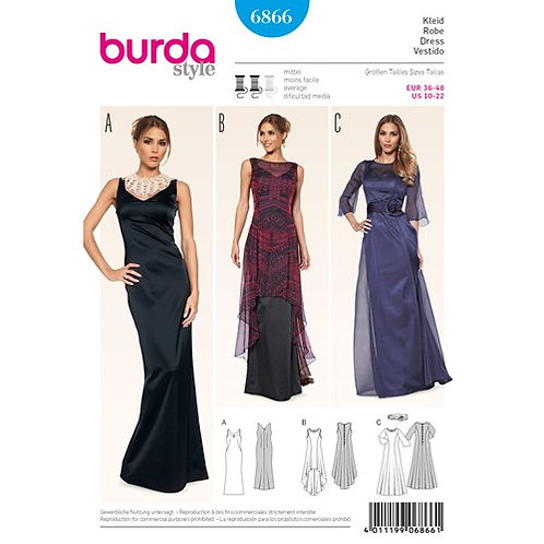 Burda 6866 Abendkleid
