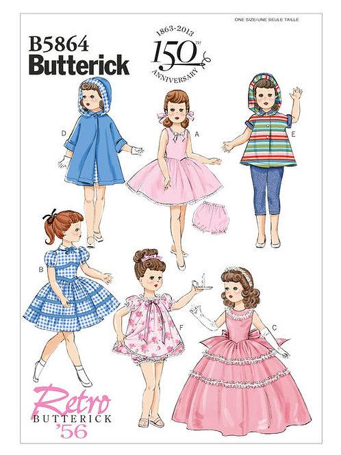 Butterick B5864 Retro Puppenkleidung