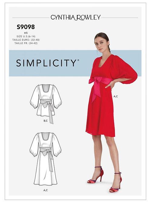 Simplicity 9098 Kleid