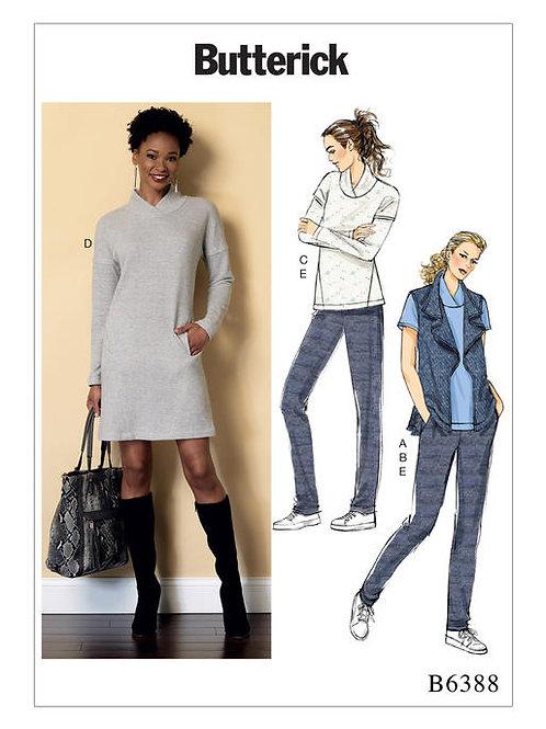 Butterick B6388 Kleid, Weste, Shirt & Hose