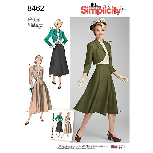 Simplicity 8462 Vintage Rock & Bolero