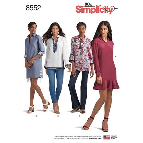 Simplicity 8552 Tunikakleid