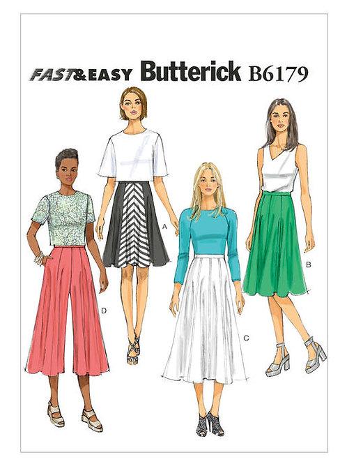 Butterick B6179 Hosenrock und Rock