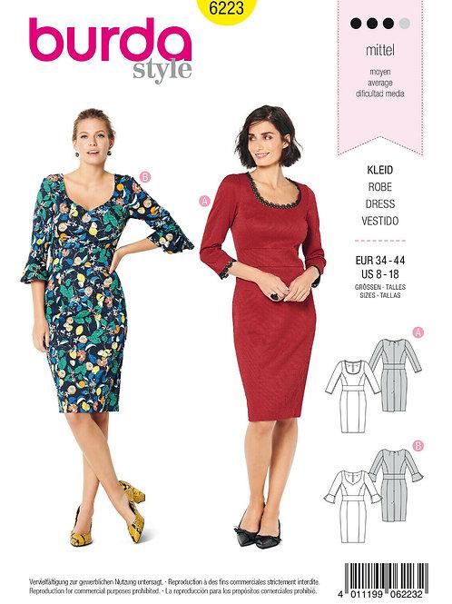 Burda 6223 Tailliertes Kleid