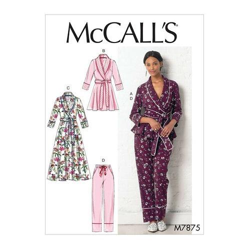 McCall`s M7875 Morgenmantel und Hose