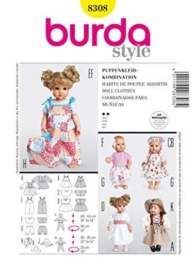 Burda 8308 süße Puppenkleider
