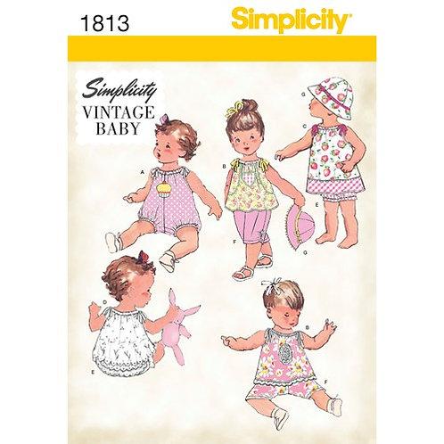Simplicity 1813 Vintage Baby - Ausstattung