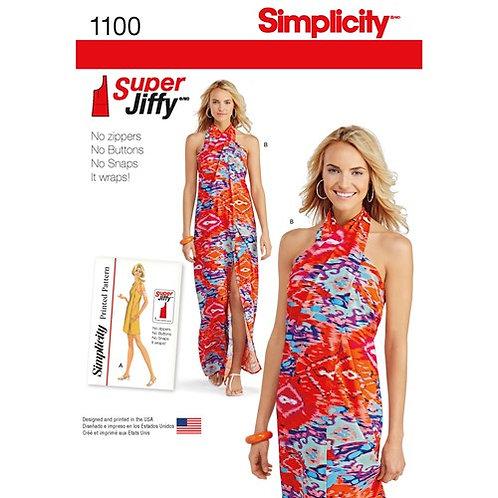 Simplicity 1100 Neckholder- oder Strandkleid