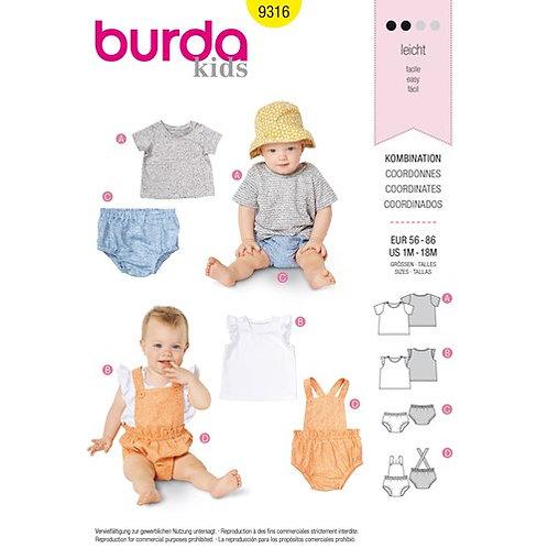 Burda 9316 bequemes Shirt & Höschen