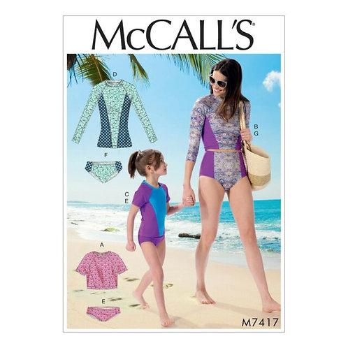 McCall`s M7417 Badehose und Shirt