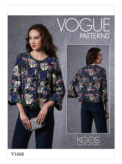 Vogue V1668 taillenlange Jacke by Koos van der Akker