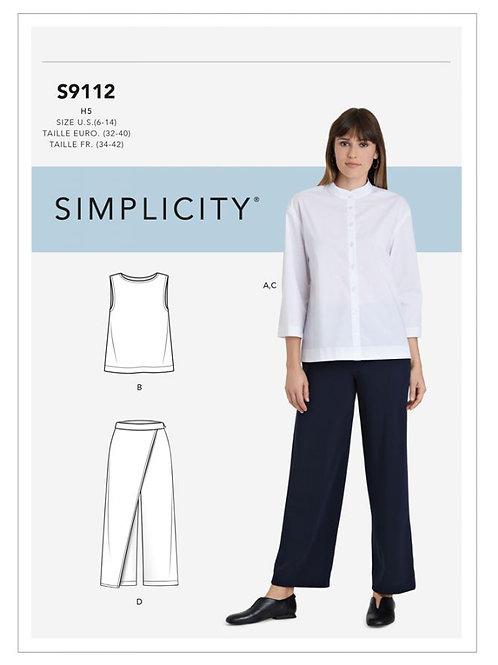 Simplicity 9112 Shirt und Hose