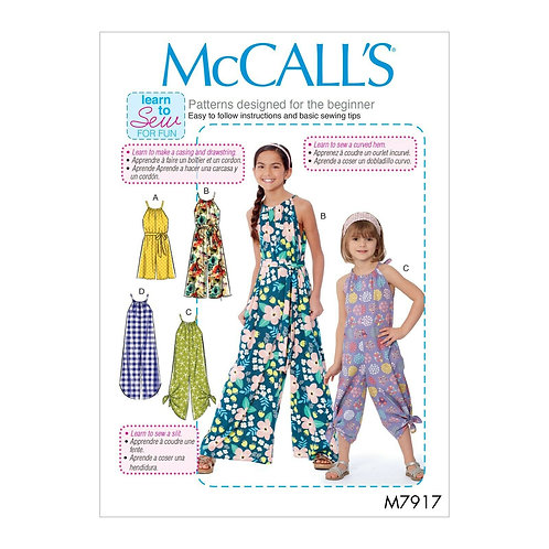 McCall`s M7917 Mädchen - Overall