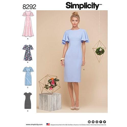 Simplicity 8292 Etuikleid