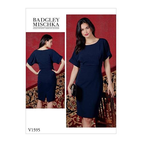 Vogue V1595 Etuikleid by Badgley Mischka