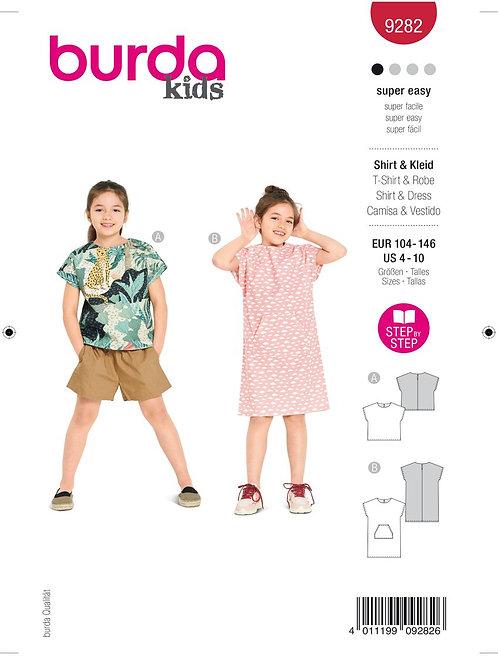 Burda 9282 Shirt & Kleid Kleinkind