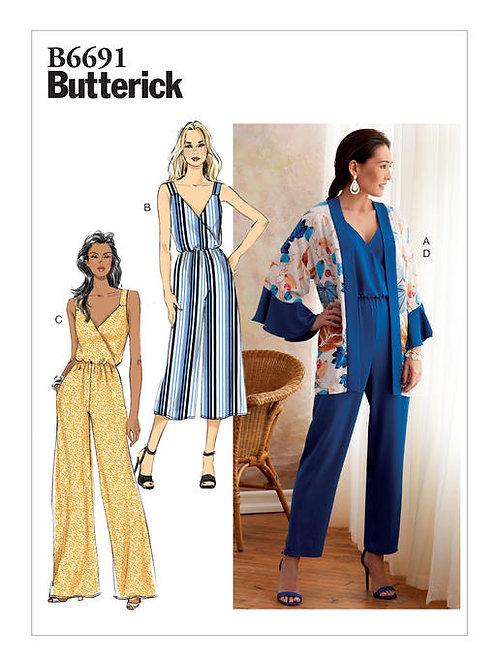 Butterick B6691 sommerlicher Overall & Jacke