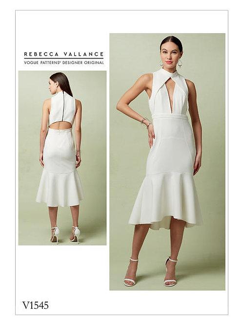 Vogue V1545 tailliertes Designerkleid by Rebecca Vallance