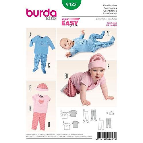 Burda 9423 modisches Baby - Outfit