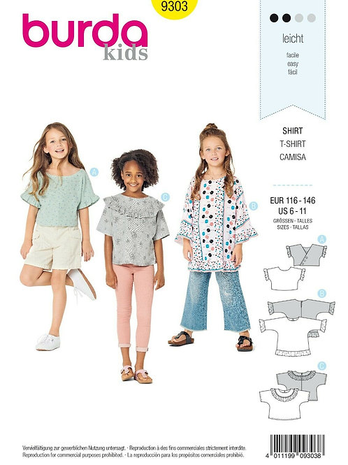 Burda 9303 Kinder - Shirt
