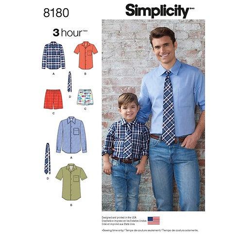 Simplicity 8180 Shorts, Hemd & Krawatte