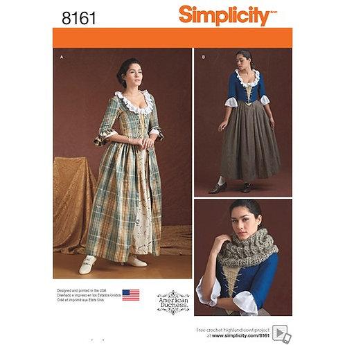 Simplicity 8161 Kostüm aus dem 18. Jahrhundert