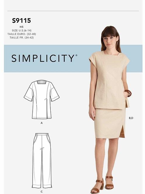Simplicity 9115 Bluse und Hose