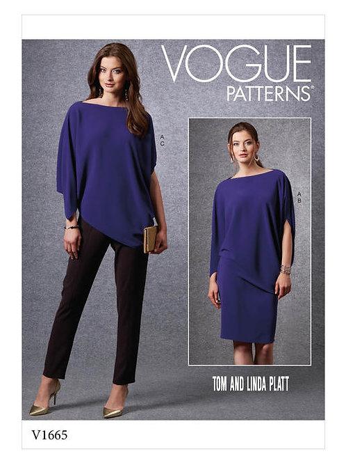 Vogue V1665 lockere Bluse, Rock & Hose by Tom & Linda Platt