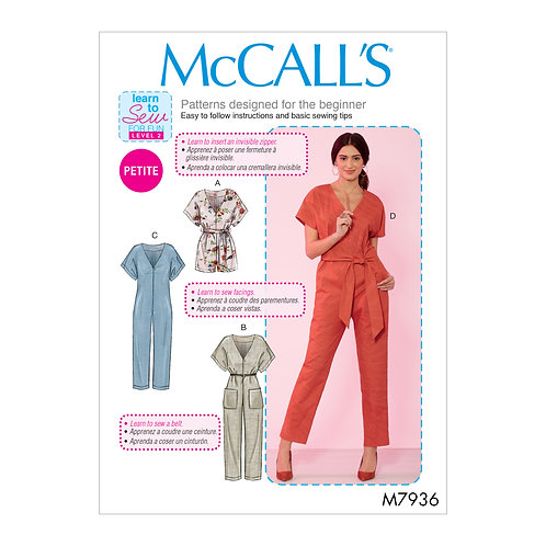 McCall`s M7936 Overall