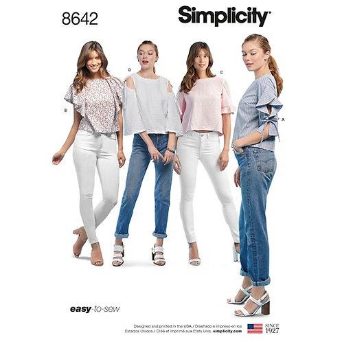 Simplicity 8642 sommerliche Bluse