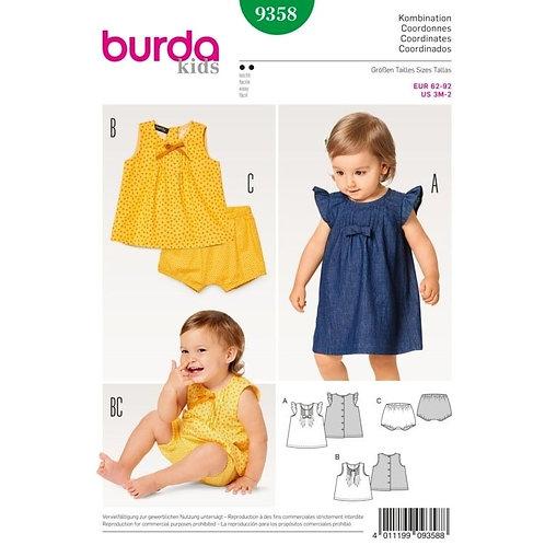 Burda 9358 Kleid, Bluse & Höschen