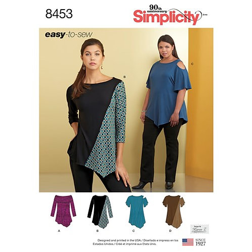 Simplicity 8453 Stretch - Tops