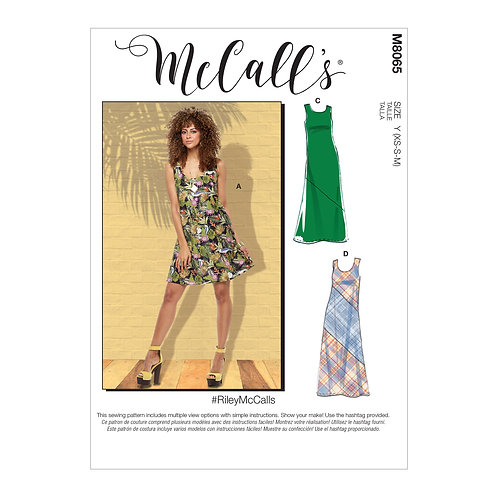 McCall`s M8065 Jersey-Kleid