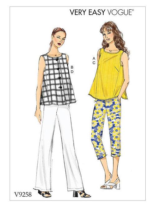 Vogue V9258 ärmelloses Top & Hose