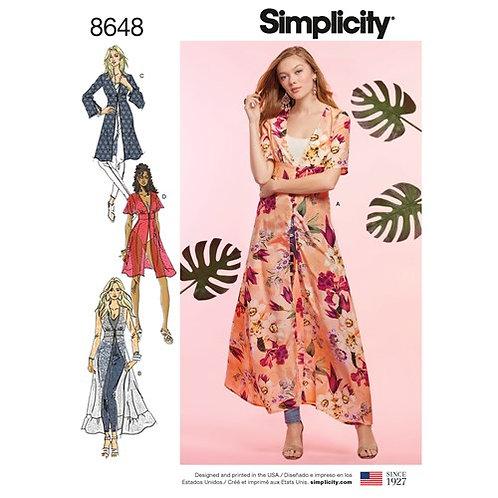 Simplicity 8648 Überziehmantel