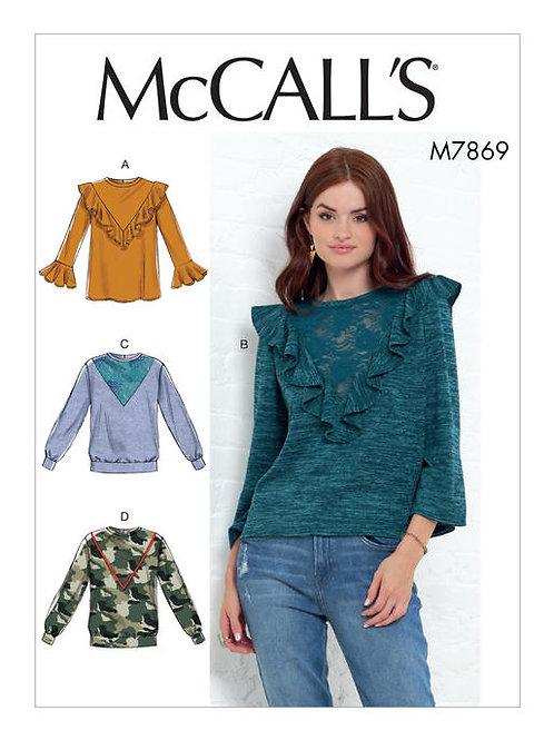 McCall's 7869 lässiges Shirt