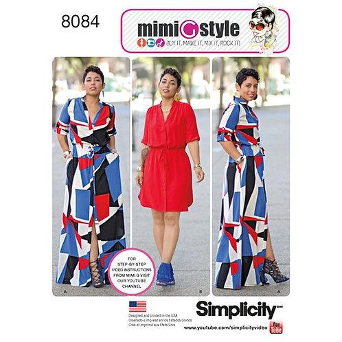 Simplicity 8084 Hemdblusenkleid