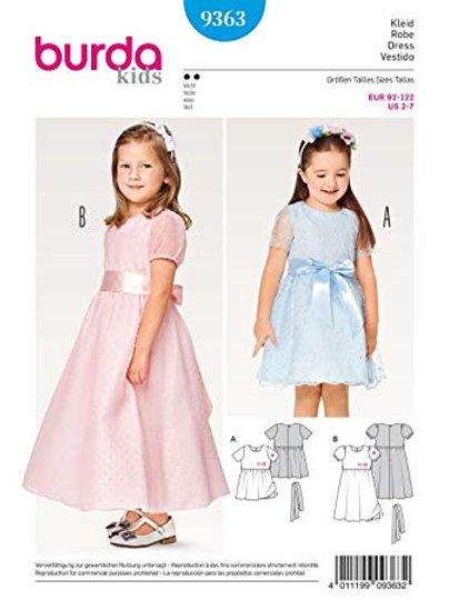 Burda 9363 festliches Kleid